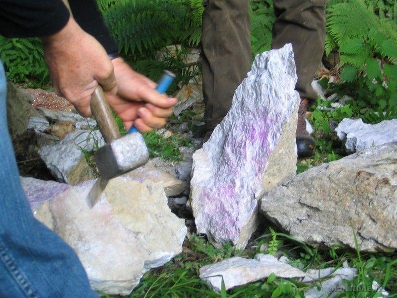 a kő felaprítása