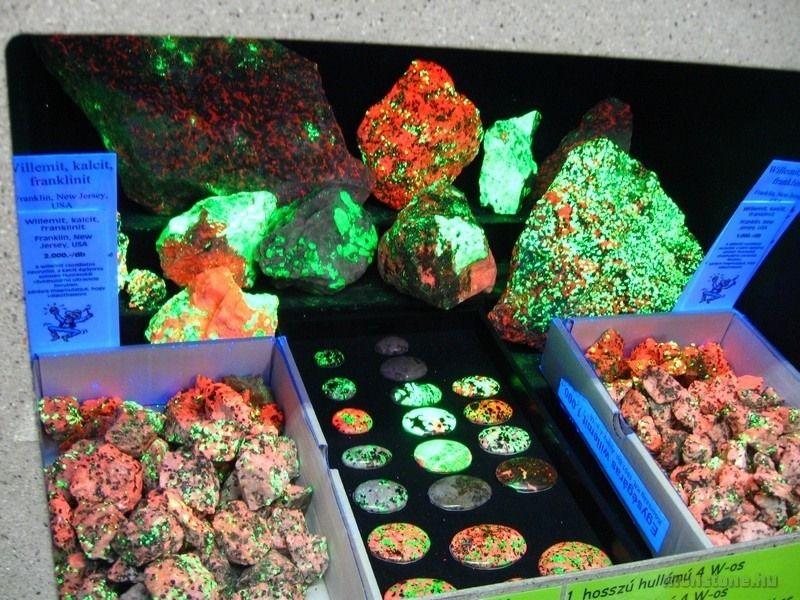 UV-fényben fluoreszkáló ásványok