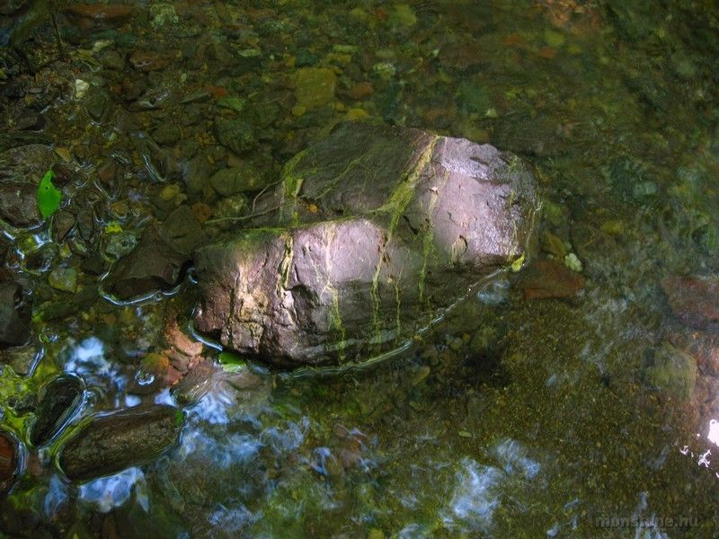 Epidotos tömb a patakban
