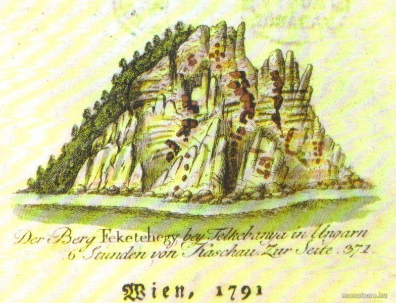 A Fekete-hegy Fichtel rajzán